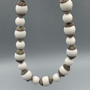White & Silver Subtle Statement Jewellery